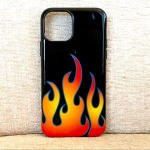 Velvet Caviar Blue Chrome Flames iPhone Case
